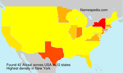 Surname Afzaal in USA