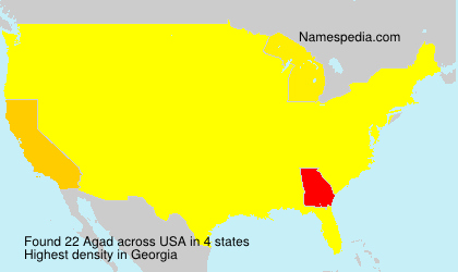 Surname Agad in USA