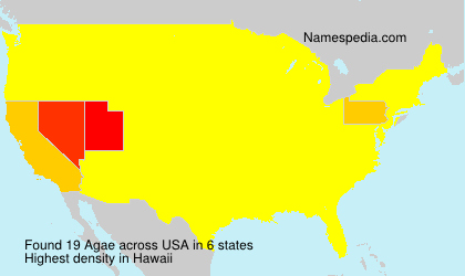 Surname Agae in USA