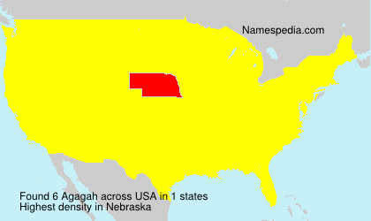 Surname Agagah in USA