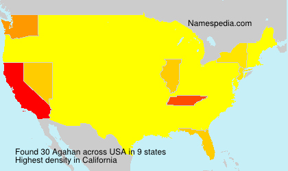 Surname Agahan in USA