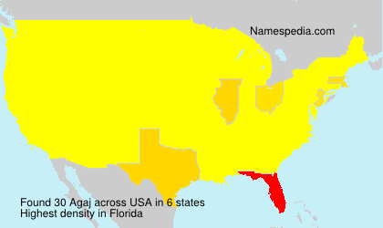 Surname Agaj in USA