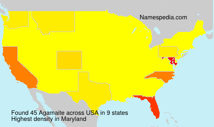 Surname Agamaite in USA