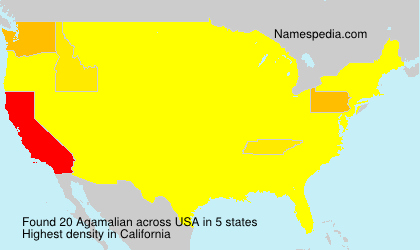 Surname Agamalian in USA