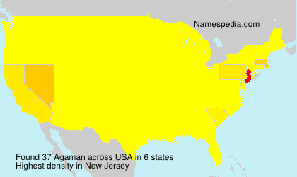 Surname Agaman in USA