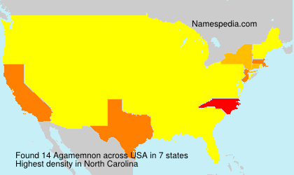 Surname Agamemnon in USA