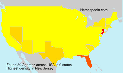 Surname Agamez in USA