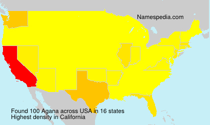 Surname Agana in USA