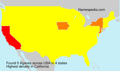 Surname Aganes in USA