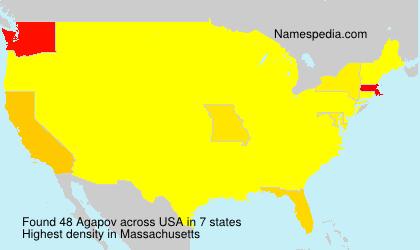 Surname Agapov in USA