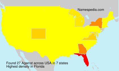 Surname Agarrat in USA