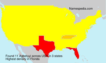Surname Agbetuyi in USA
