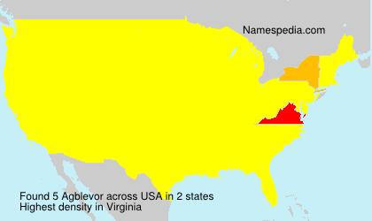 Surname Agblevor in USA