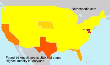 Surname Agboli in USA