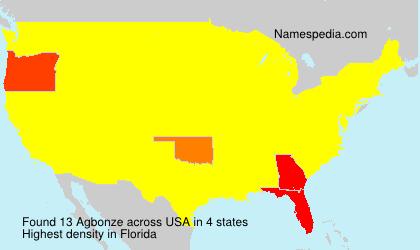Familiennamen Agbonze - USA