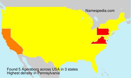 Familiennamen Agersborg - USA