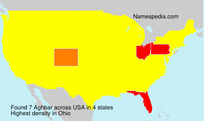 Surname Aghbar in USA