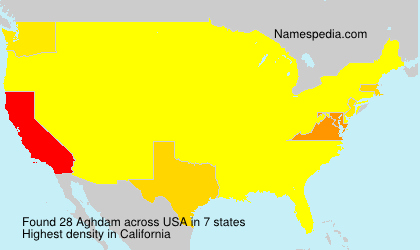 Surname Aghdam in USA
