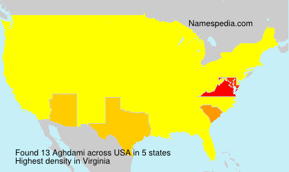 Surname Aghdami in USA