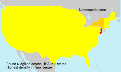 Surname Agilina in USA