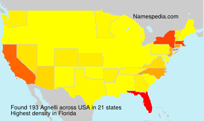 Surname Agnelli in USA