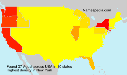 Surname Agost in USA