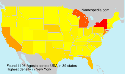 Familiennamen Agosta - USA