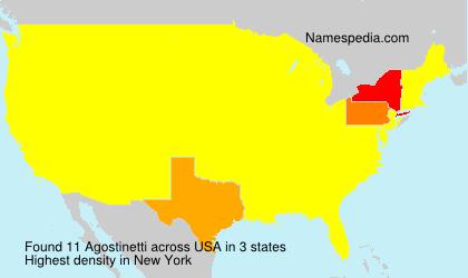 Surname Agostinetti in USA