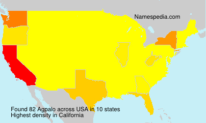 Surname Agpalo in USA
