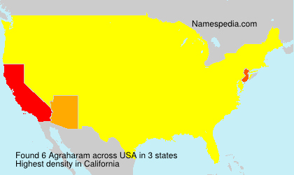 Surname Agraharam in USA
