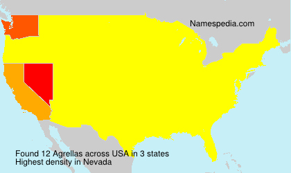 Surname Agrellas in USA