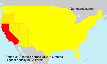 Familiennamen Agsaulio - USA