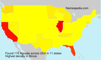 Surname Aguada in USA