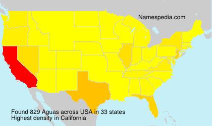 Familiennamen Aguas - USA
