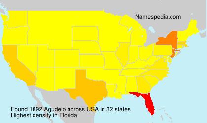 Surname Agudelo in USA