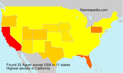 Surname Aguer in USA