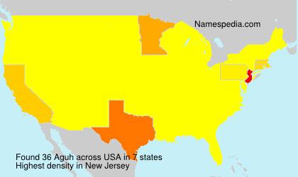 Familiennamen Aguh - USA