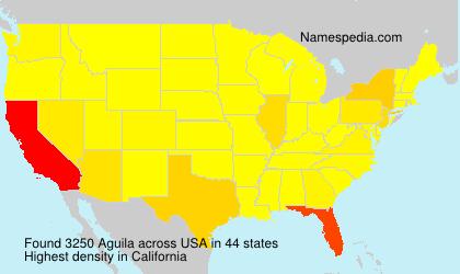Familiennamen Aguila - USA