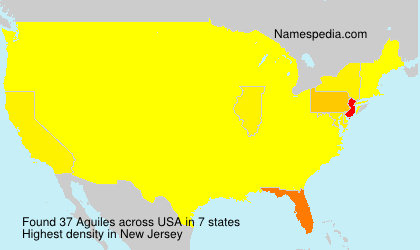 Surname Aguiles in USA