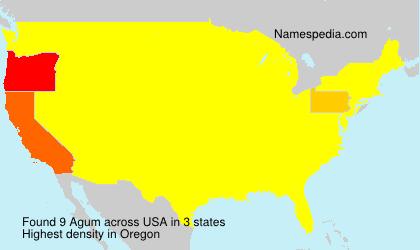 Surname Agum in USA
