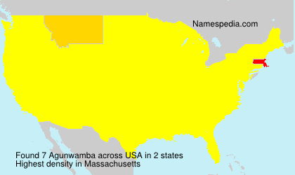 Surname Agunwamba in USA