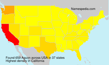 Surname Aguon in USA