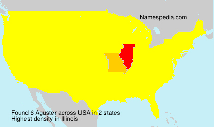 Surname Aguster in USA