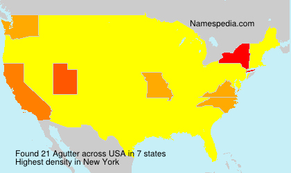 Surname Agutter in USA