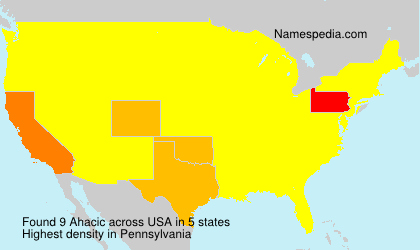 Surname Ahacic in USA