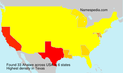 Surname Ahaiwe in USA