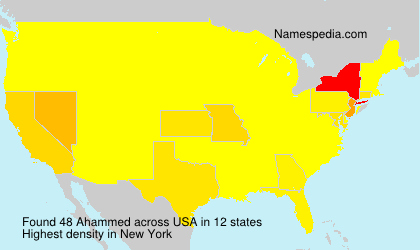 Surname Ahammed in USA