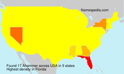 Surname Ahammer in USA