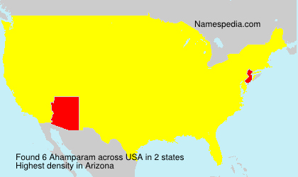 Surname Ahamparam in USA