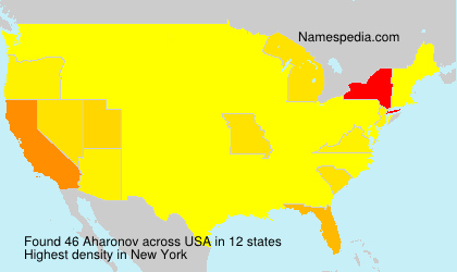 Surname Aharonov in USA